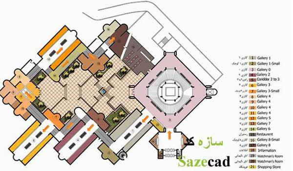 پلان موزه هنرهای معاصر تهران